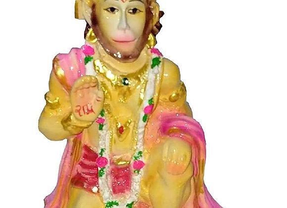 Today Fashion Polyresin Ashirwaad Hanuman Decorative Showpiece 5 inch