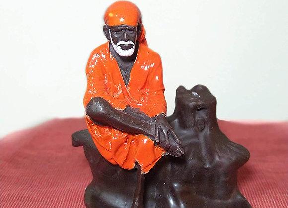 Today Fashion Polyresin Lord Sai Baba Incense Holder with Smoke Backflow Cones