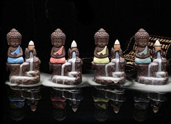 "Buddha Smoke Fountain/Incense Burner Free 10 Smoke Backflow (Random Color,4"")"