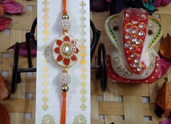Today Fashion Stone Pearl Rakhi for Brother