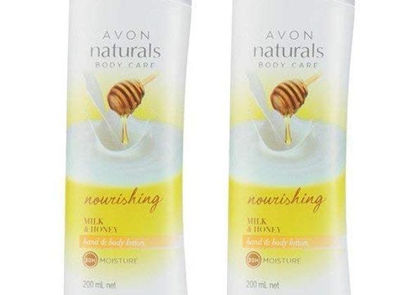 Avon Naturals Milk & Honey Body Lotion (combo set)