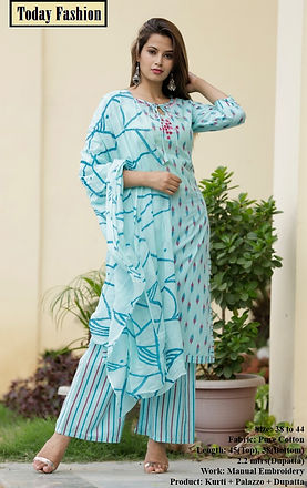 ​Kurti with plazzo/Skirt  /Pant/Sharara