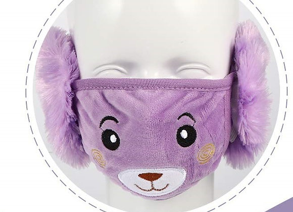 Today Fashion Kids Warm mask (Purple)