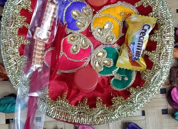 Today Fashion Rakhi For Brother With Pooja Thali Gift Combo - Rakhi Gift For Brother And Bhabhi