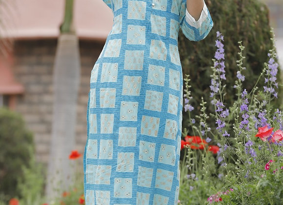 Today Fashion Women's Rayon Check Printed Kurta Sarara Set