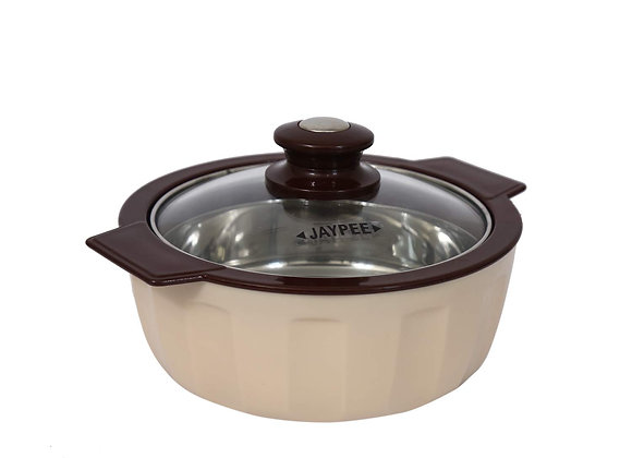 Jaypee Plus Glamerole Stainless Steel Casserole, 1500 ml