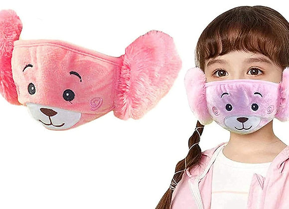 Today Fashion Kids Warm mask (Hot pink and baby pink)