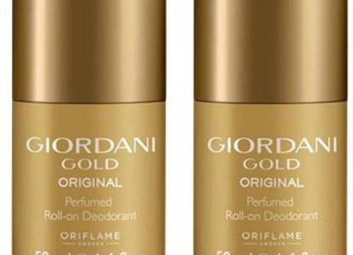 Oriflame Sweden GIORDANI GOLD DEODORANT ROLL ON  For Women 50 ml each( PACK OF 2 )