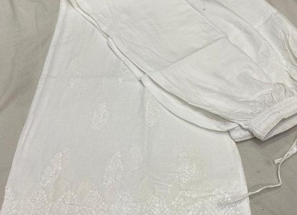 Today Fashion Women Cotton Bakhya Work  Palazzo Pant (Pack of 1)