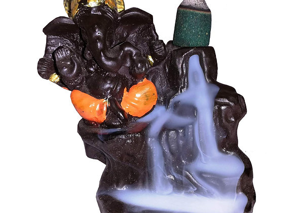 "BAL Ganesha Smoke Fountain Burner with 10 Scented Cone Incenses(4"",Random color)"