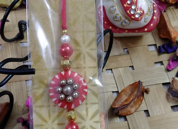 Today Fashion Pink Rakhi for Brother