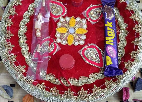 Today Fashion Rakhi For Brother With Pooja Thali Gift Combo - Rakhi Gift For Bro