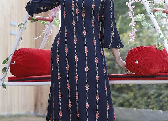 Today Fashion Women's Rayon Embroidered Kurta Sarara Set