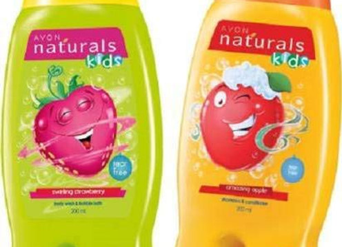 Avon Naturals Kids Wacky Apple & Strawberry Shampoo & Conditioner (200 ml each)