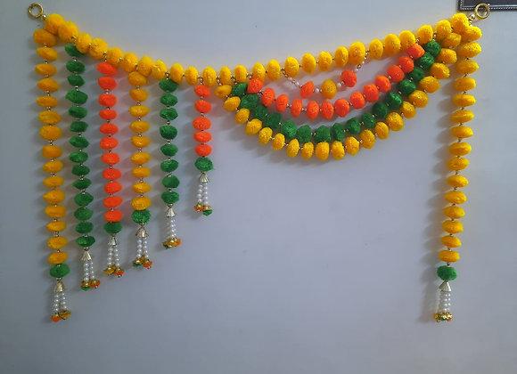 Today Fashion Handmade pom pom Full Size Door Bandarwar/Wall hangings/for Decor