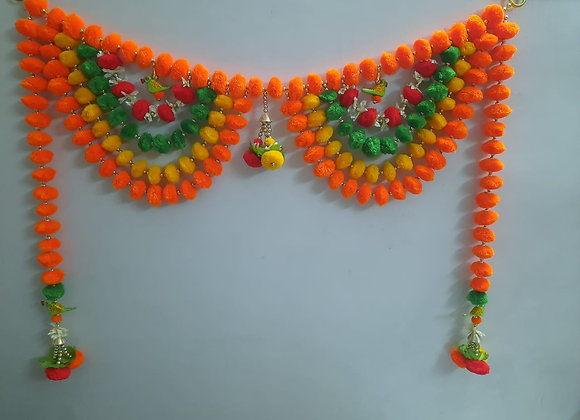 Today Fashion Handmade pom pom Full Size Door Bandarwar/Wall hangings/for Decor
