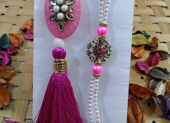 Today Fashion Bhaiya Bhabhi Rakhi Set  (2 Designer Rakhis for Bhaiya-Bhabhi )