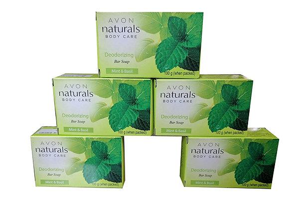 Avon Naturals Deodorizing Bar Soap pack of 5 ( 100 g Each )