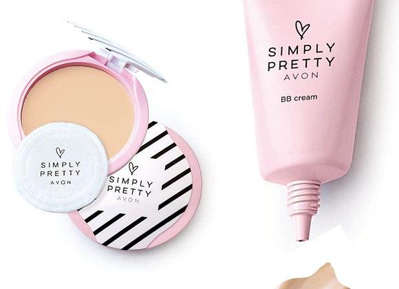 Avon Simply Pretty BB Cream + Smooth & White Pressed Powder SPF 14 (Nude)