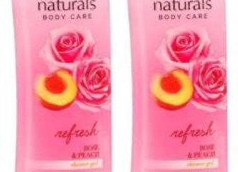 Avon Naturals  Rose & Peach Shower Gel (combo of 2)