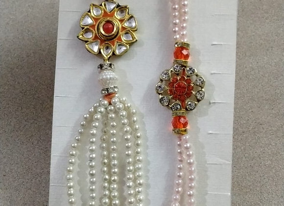 Today Fashion Bhaiya Bhabhi Lumba Rakhi Set(2 Designer Rakhis for Bhaiya Bhabhi)