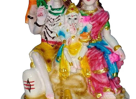 Today Fashion Poly Resin Unbreakable Shiv Parivar Statue (4 inch)