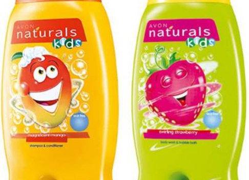 Avon Naturals Kids Wacky Strawberry & Mango Shampoo & Conditioner (200 ml each)