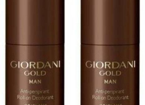 Oriflame Sweden GIORDANI GOLD MAN ANTI PERSPIRANT ROLL ON DEO 50ml each ( PACK OF 2 )  For Men  (100 ml, Pack of 2)