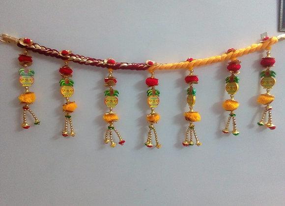 Today Fashion Handmade Wooden Kalash Door Bandarwar/Torans/Wall hangings