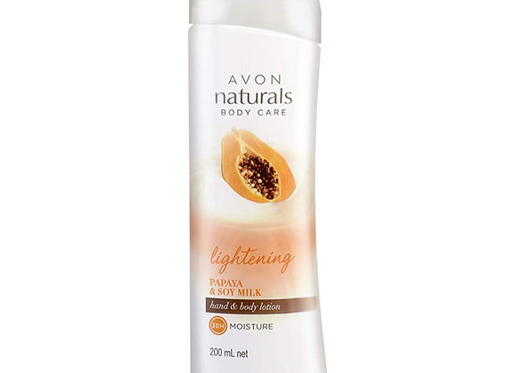 Avon Naturals Papaya Whitening Hand & Body Lotion 200 ml