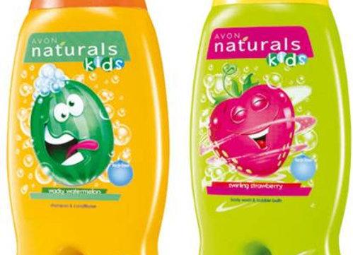 Avon Naturals Kids Watermelon & Strawberry Shampoo & Conditioner (200 ml each)