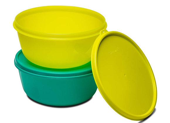 Tupperware SS Plastic 1.5 L Bowl (Yellow and Green) Set of 2