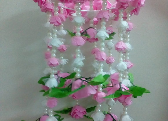 Today Fashion Handmade Door Hangings Pink Roses Jhumar Home Decor