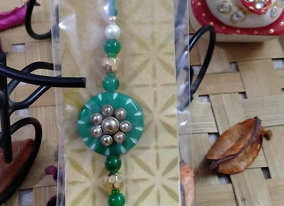 Today Fashion Green Rakhi for Brother