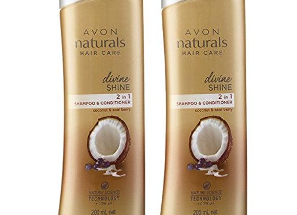 Avon Naturals Divine Shine Shampoo & Conditioner