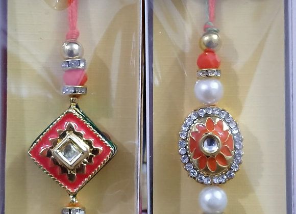 Today Fashion Stone Rakhi for Brother (Set of 2)