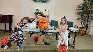 Kids w Halloween decs.jpg