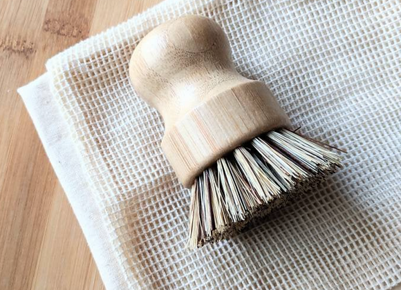 Wood Dish Brush - Short