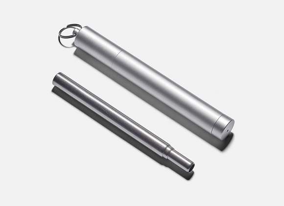 Collapsible Metal Straw with Travel Case