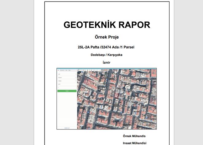 geoteknik rapor