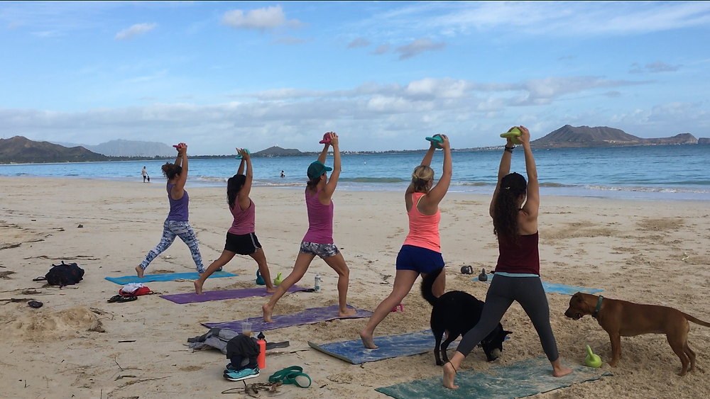 Beach Belles - Lunge with Press