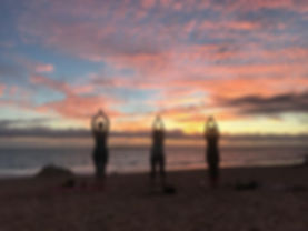 Kailua Beach Sunrise Yoga Oahu Hawaii Is