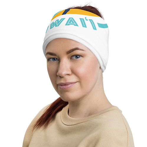 Neck Gaiter / Buff - White with Colored Logo