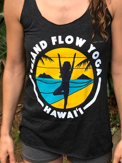 Island Flow Yoga Tank - Vintage Black