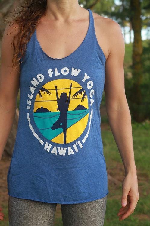 Island Flow Yoga Tank - Vintage Royal Blue