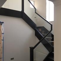 wooden stair handtrail