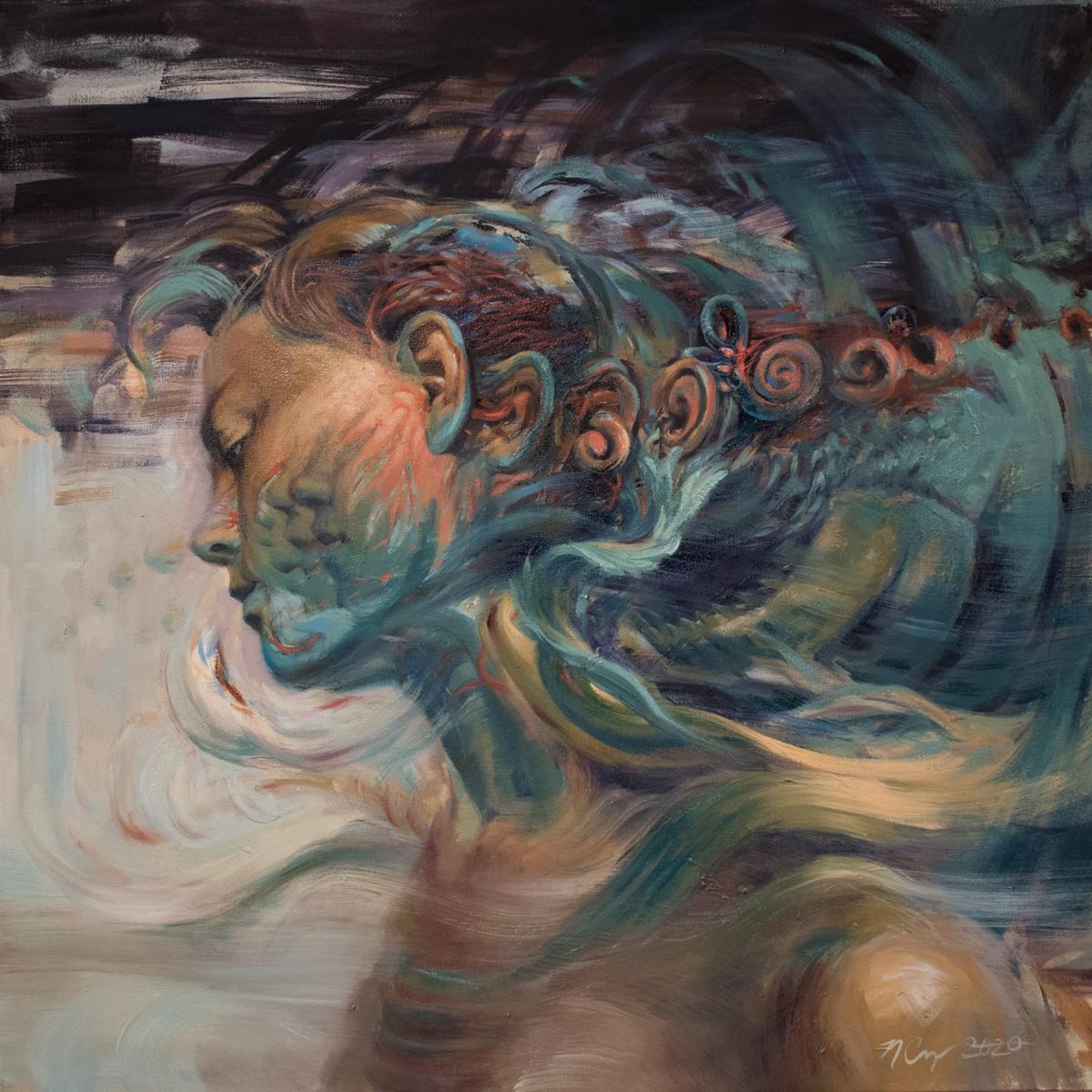 """""""Equilibrium"""" Oil Painting"""