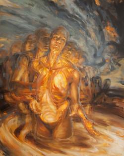 """Primal Heart"" Oil Painting"