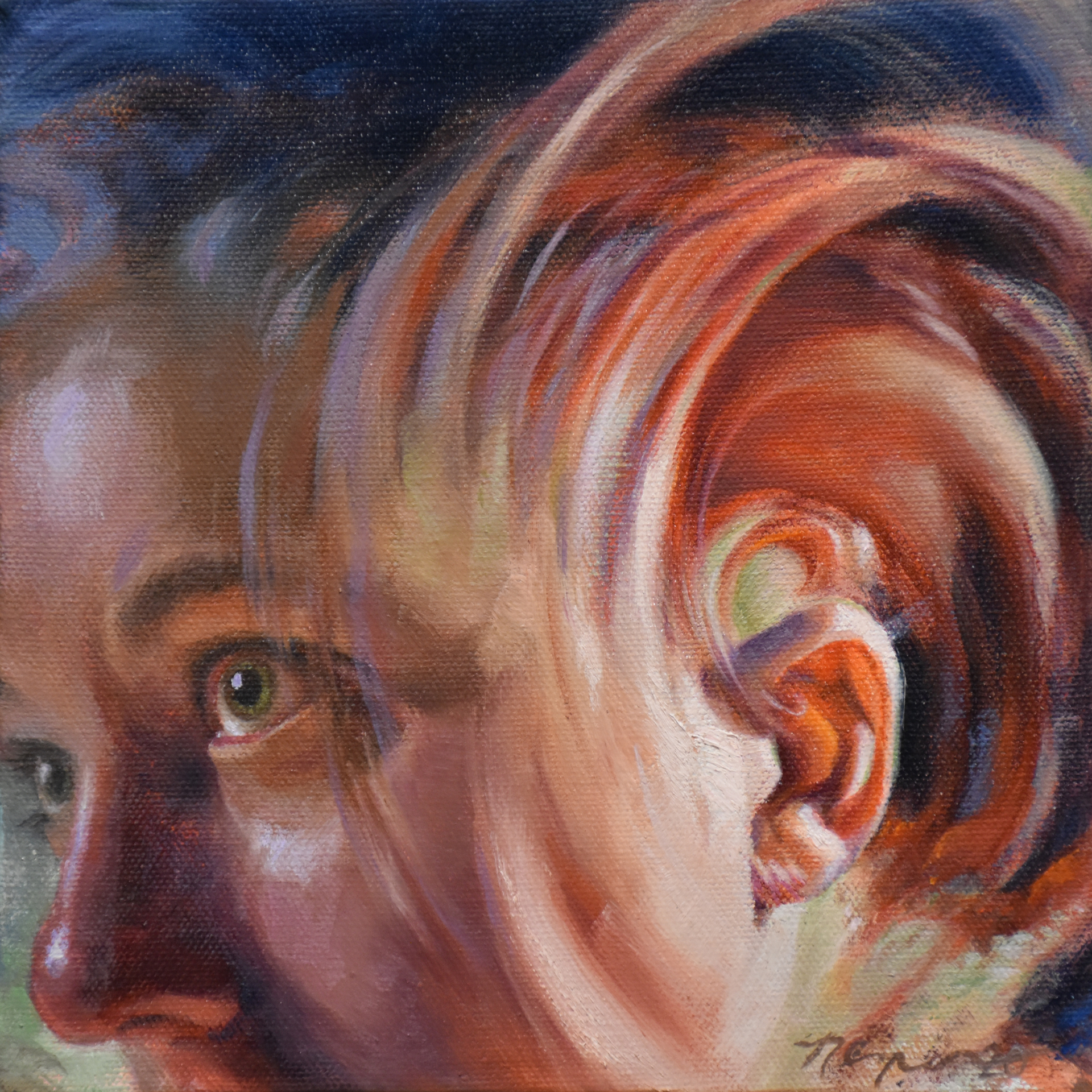 "Nicole Cooper Oil Painting ""Open Ears"""
