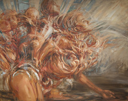 """""""Fulcrum"""" (diptych) Painting"""